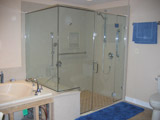 Frameless unit set with header and sill